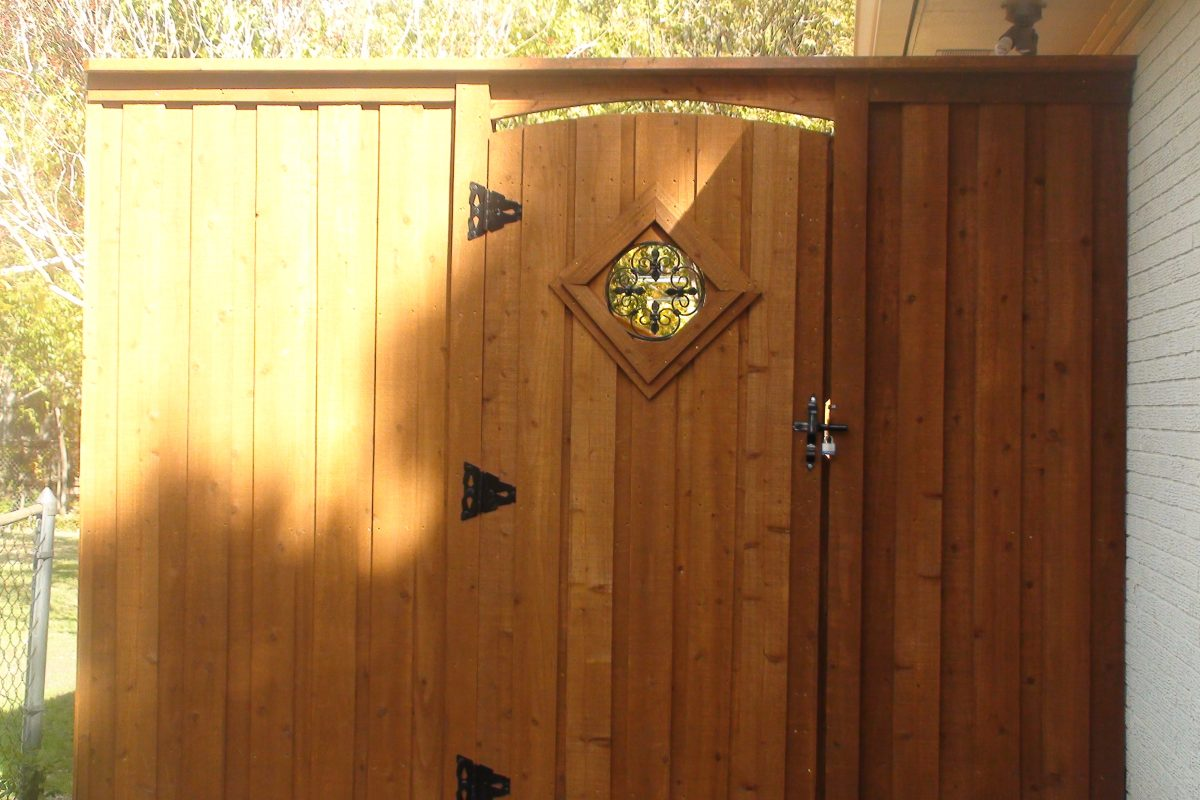 201 - Wood gate - see thru insert