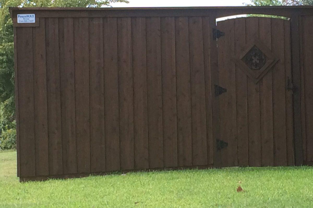 211 - Fence - DARK stain