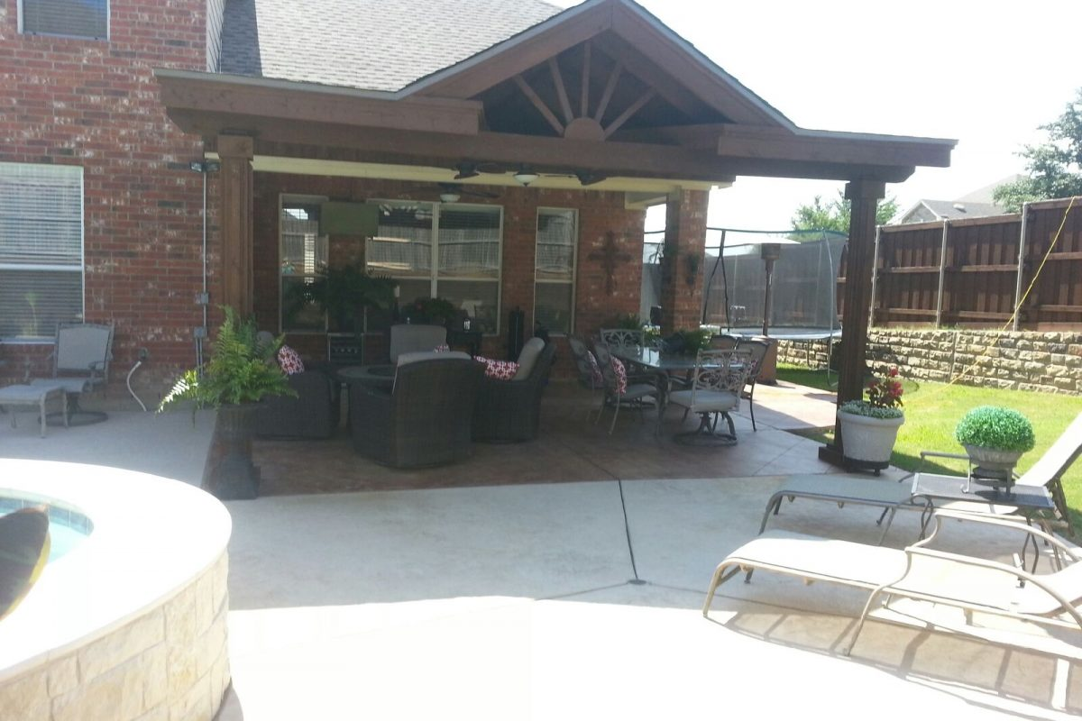 ... 402   Patio Cover   Flat Sides With Large Gable ...