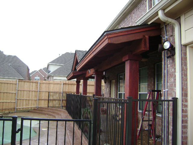 406 - Patio cover - flat with gable & sunbusrt at ends 3