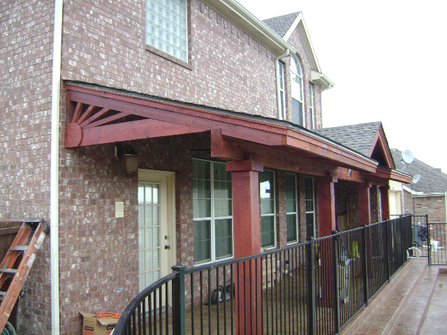 407 - Patio cover - flat with gable & sunbusrt at ends