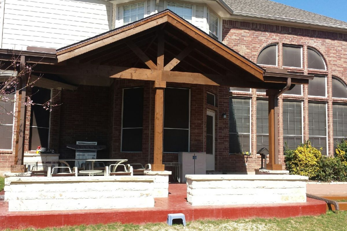 411 - Patio cover flat sides with large gable