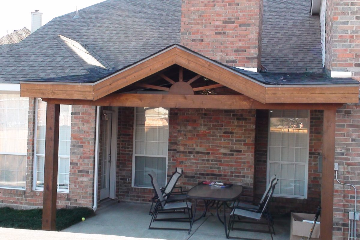 419 - Patio cover - flat with gable