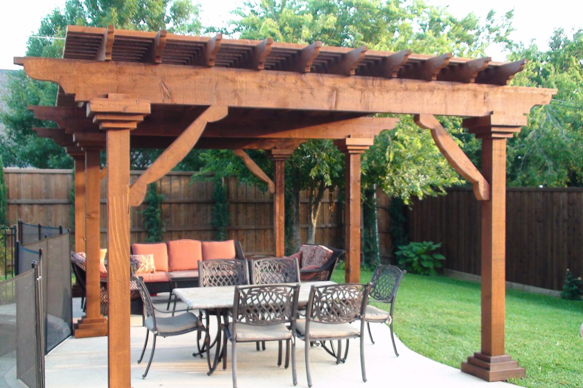 506 - Arbor - large beams, angle trim
